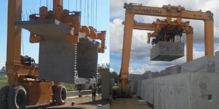 AerLift-ASCOM Civil Construction Rail Mounted Gantry Crane
