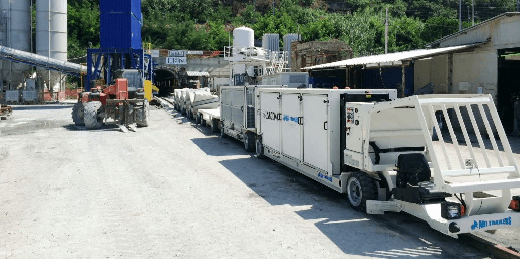 Airlift ASCOM-ABI Trailers low carriers tunnel equipment