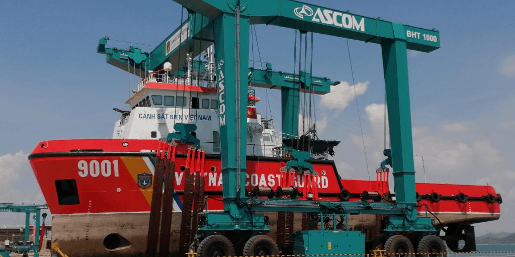 AerLift ASCOM Mobile Boat Hoist 1000T