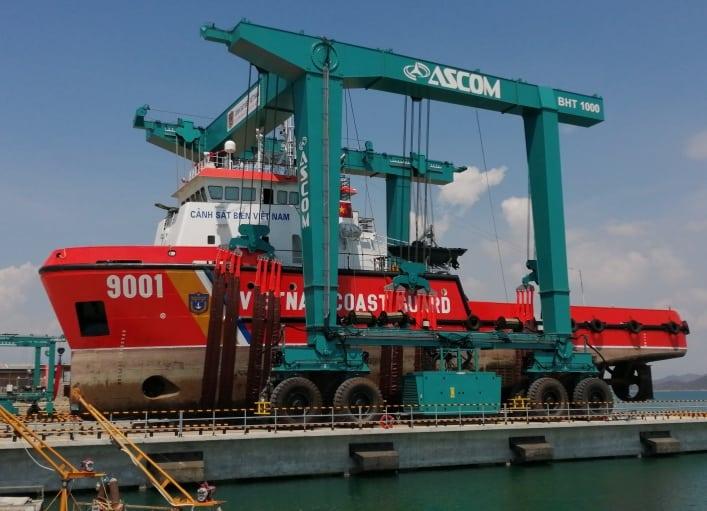 Aerlift ASCOM Mobile Boat Hoist BHT 1000T